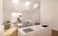 exklusives wohnen - luxusapartement - innenarchitektur luxemburg - chora blau visualisierung