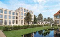 Verwaltungsgebäude Volksbank Wolfenbüttel - Erweiterungsbau von T.Möhlendick Architeken mit Neuplanung der Freianlagen von chora blau