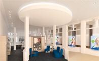 KIND-Fachgeschäft in Celle-hoergeraete-brillen-zabel architektur-chora blau-visualisierung