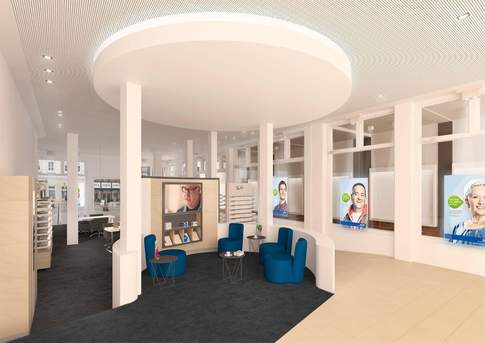 KIND Fachgeschäft in Celle   chora blau Visualisierung