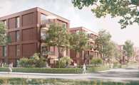 pape + pape architekten- chora blau-In den Sieben Stücken - Wohnungsbau in Hannover-Wettbewerb